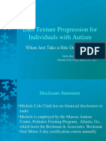 Diet Texture Progression for Individuals With Autism ASHA
