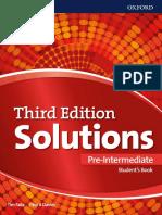 Solutions Pre Intermediate Student s Book