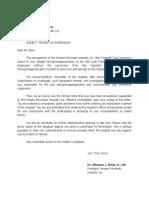 Notice of Preventive Suspension