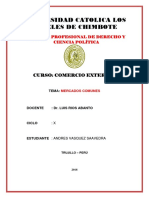MERCADOS COMUNES