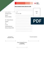 Formulir Pendaftaran Anggota Pmr