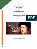 Investigación Bibliográfica Santo Tomás Moro
