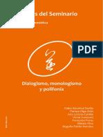 Tópicos Del Seminario 21-2009 - Dialogismo, Monologismo y Polifonía