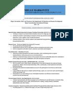 resume- markovitz