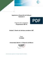 Unidad 2 Dise�o de interfaces mediante .NET