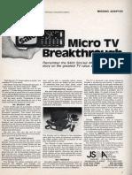 Micro TV Breakthrough