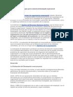 Bases Teóricas y Metodológicas Para La Evaluación Del Desempeño Organizacional