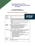 UNTFHS Documento de Proyecto - Desastres naturales en el Peru.pdf