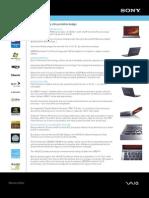 Sony VAIO VGN-Z570NB spec sheet