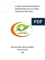 Cover Laporan Pelatihan Komunikasi Efektif Dalam Perspektif Keselamatan Pasien
