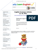 Learn English Grammar Articles (a, An, The)