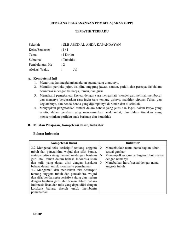 Rpp Sub Tema 2 Pelajaran 2