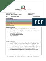 2nd observation form