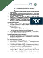Anexo 6. Políticas de Operación Residencia Profesional