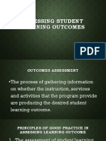 4. Assessing Student Learning Outcomes