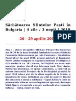 Sărbătoarea Sfintelor Paști În Bulgaria 4 Zile 2019