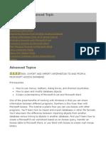 MS Access - Advanced Topic