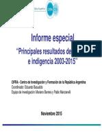Principales Resultados de Pobreza 2003 2015 Cifra