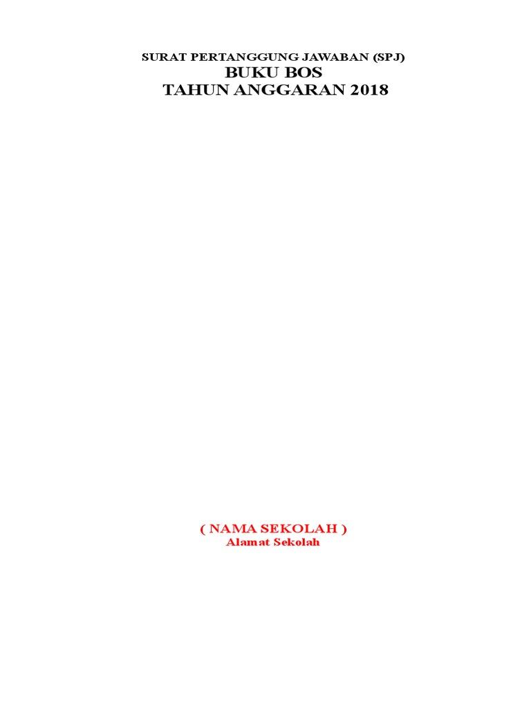 Contoh Spj Buku Sekolah Bos Tahun 2018