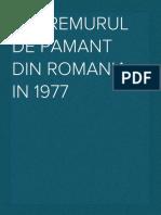 Cutremurul de Pamant Din Romania in 1977