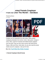 [Top 20] Sexiest Female Cosplayer From All Over the World! – Gondezo