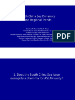 Thayer South China Sea Dynamics and Regional Trends.pptx