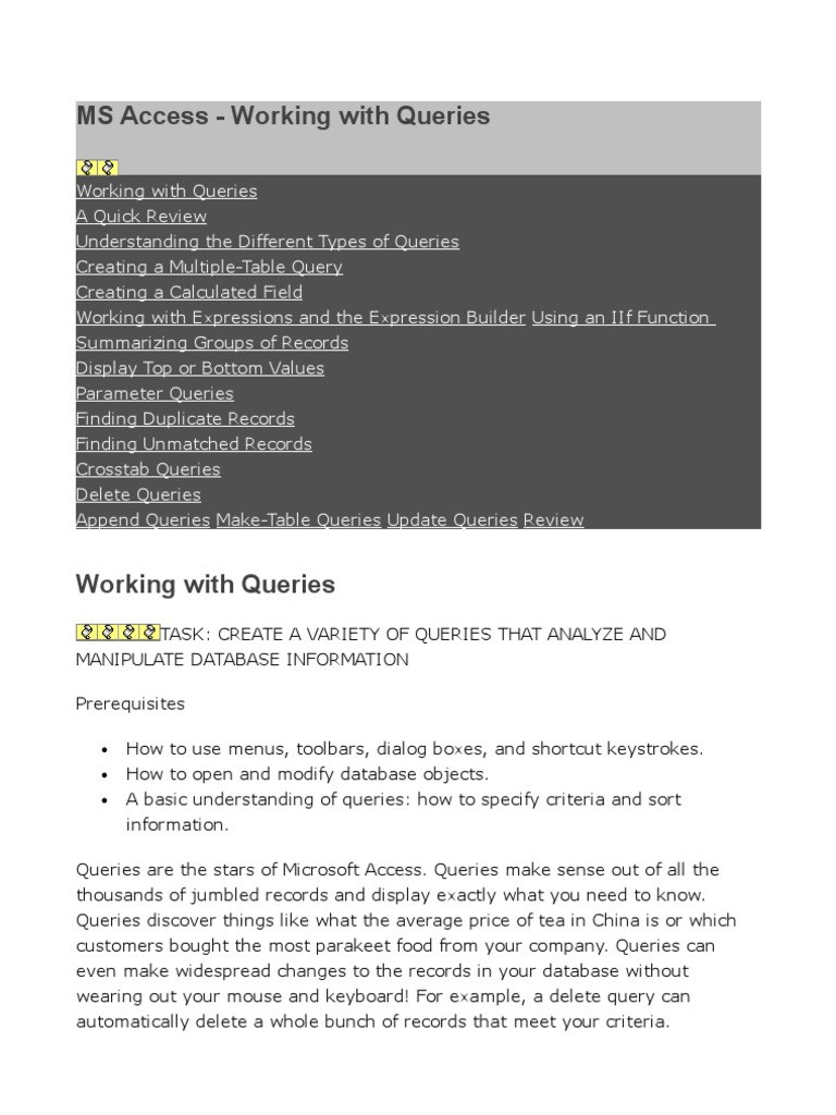 Ms access working with queries information retrieval table ms access working with queries information retrieval table database gamestrikefo Images