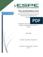 Teledespacho Instructivo de Porcentaje de Liberacion