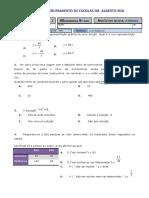 Frev Teste Nº1 - 9ºb - Funções e Prob