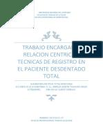 Relacion Centrica en Desdentado Total