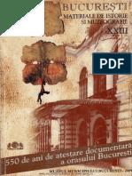 23 Bucuresti Materiale de Istorie Si Muzeografie XXIII 2009