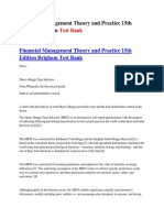 Financial Management Theory and Practice 15th Edition Brigham Test Bank