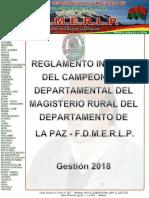 Reglamento Interno Del Campeonato Del Magisterio Rutal La Paz