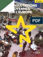 Consultations Citoyennes sur l Europe