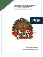 Modelo de Programa Thanksgiving