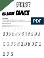 Action Comic Font