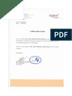 Ayman Velosi Employment Certificate