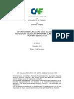 Diferencias Calidad Educacion Ineficiencia Metodo Frontera Estocastica