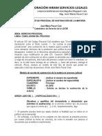 Modelo de Solicitud Procesal de Sustracción de La Materia - Autor José María Pacori Cari