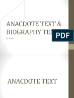 Anacdote Text & Biography Text