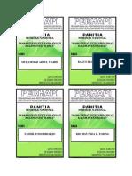 Name Tag Panitia Seminar