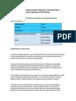 Propuesta Educación Técnica Tecnológica Electricidad Industrial Previo 1