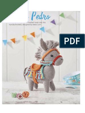 Pedro the Amigurumi Donkey | amigurumi crochet pattern, written ... | 396x298