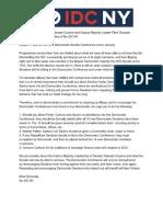 NO IDC NY letter to Senate Democrats re Carlucci, Savino and Felder