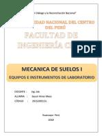 Equipos e Instrumentos Laboratorio de Suelos