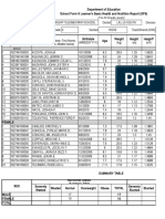 School Form 8 SF8 Learner Basic Health and Nutrition Report