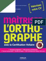 270651691 Maitrisez l 39 Orthographe Avec La Certification Voltaire PDF