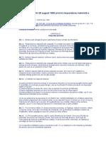 ORDONANŢĂ nr.121 din 28 august 1998 privind răspunderea materială a militarilor