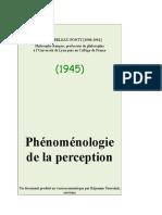 Merleau Ponty, Maurice - Phonomenologie de La Perception