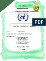 Delito Contra La Libertar Monografia.